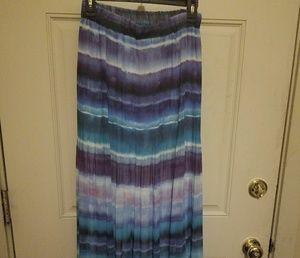 Sheer over lay Lane Bryant Maxi Skirt & Top